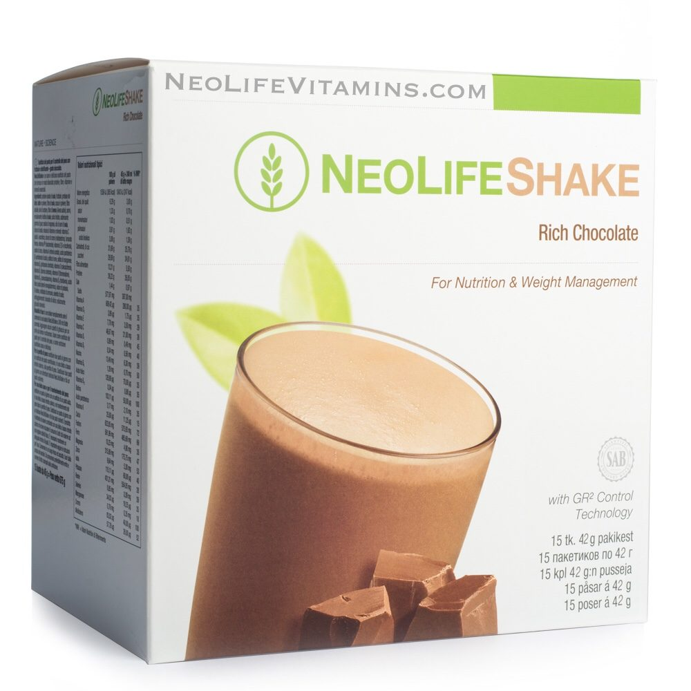 NeoLifeShake Rich Chocolate Protein packets