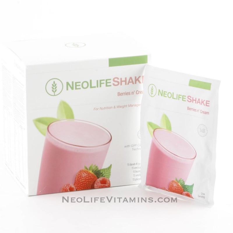NeoLifeShake Berries n Cream Protein packets