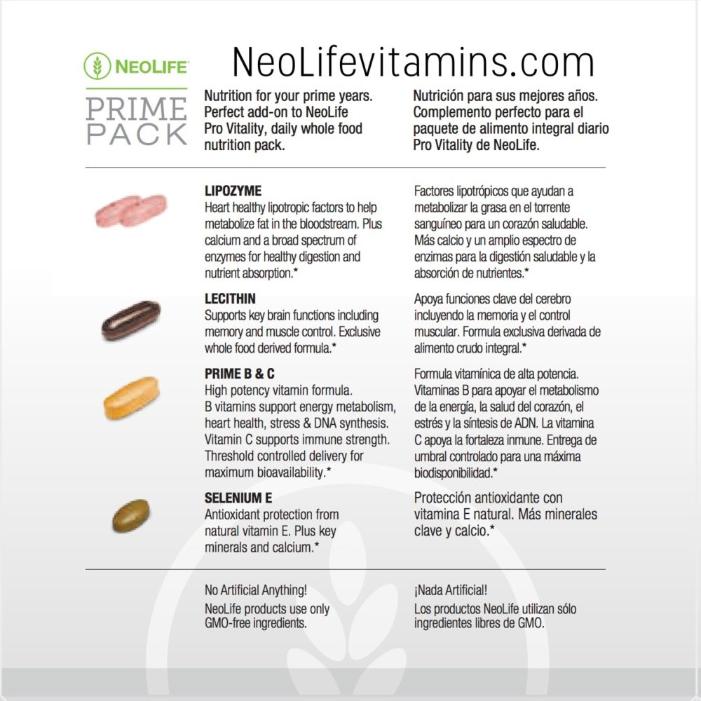 Prime Pack Neolife Targeted Nutrition