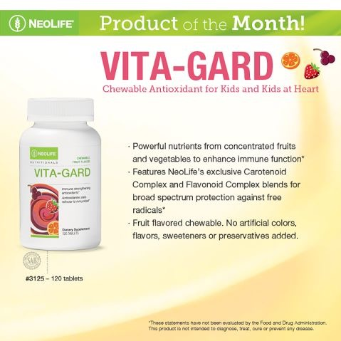 Vita-Gard Children Chewable Antioxidants Immune Neolife